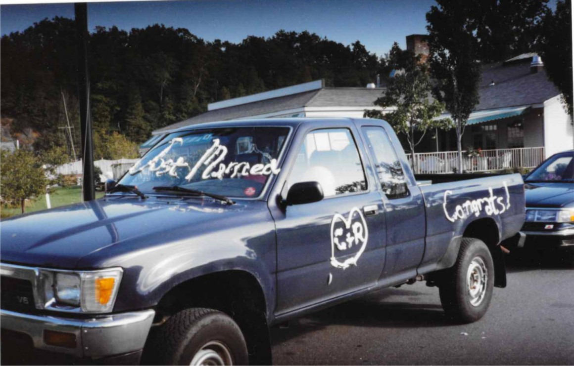 This is my old pickup truck! I never once yelled out its window at a father with his children that I'd like to fuck him.