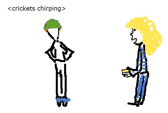 4crickets chirping